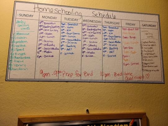 Remote school schedule