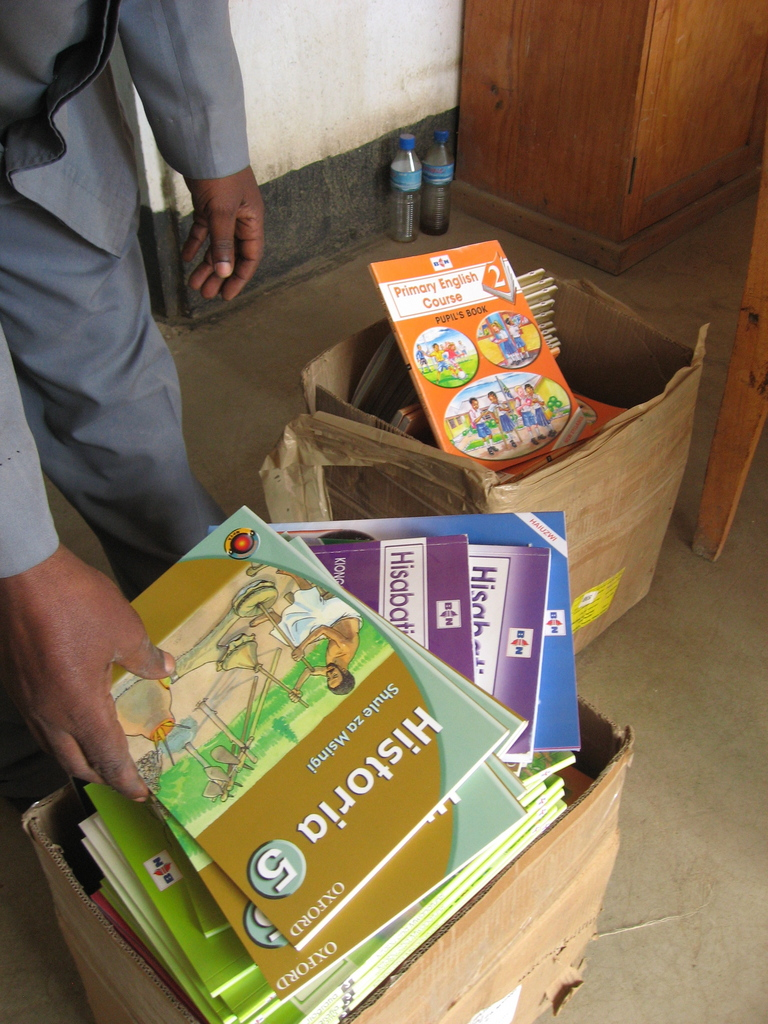 Books delivered to Losinoni Primary School