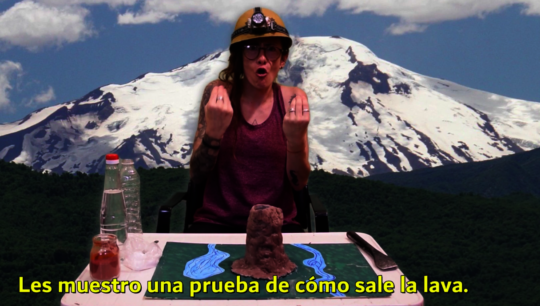 sign language video.the volcano