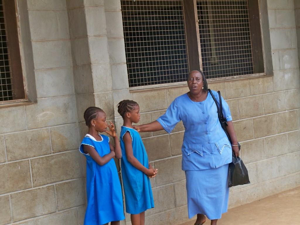 FAWE head teacher and students