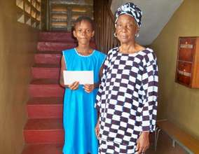 Agnes with her grand mother