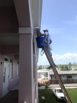 Finishing exterior paint work
