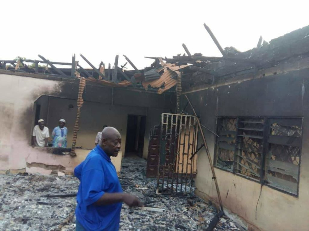 Sample of Burnt Down Houses in Kom Villages