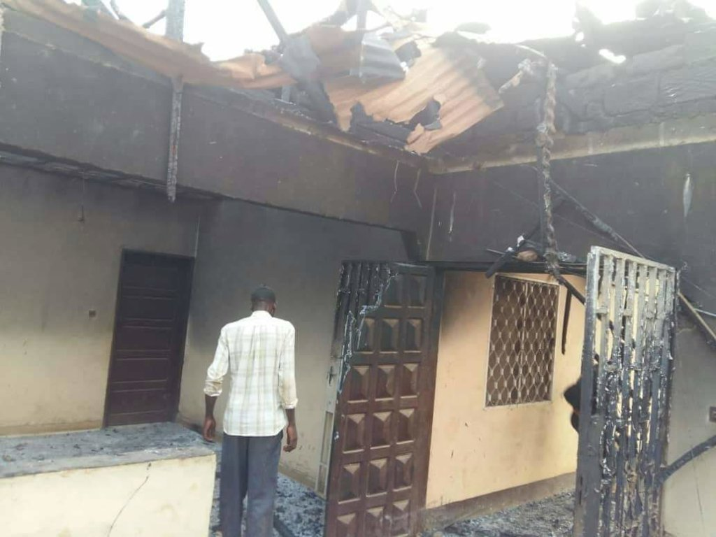 Sample of Houses on Fire in Kom Villages