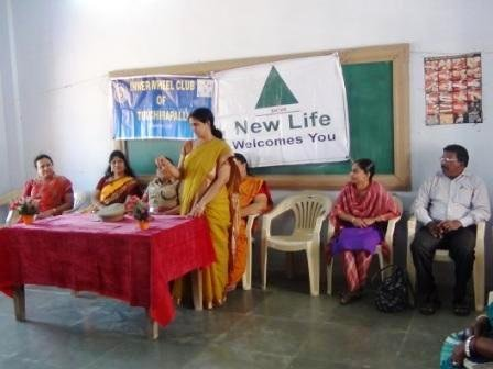 Felicitation by the Innerwheel Project President