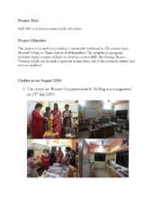 Report - Updates will August 2019 (PDF)
