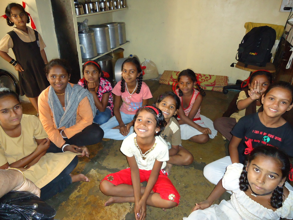 Children in a slum