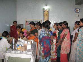 Free medical check-ups at Shanti Nagar