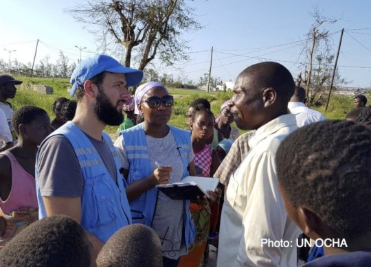 Cyclone survivors - interviewed for radio needs