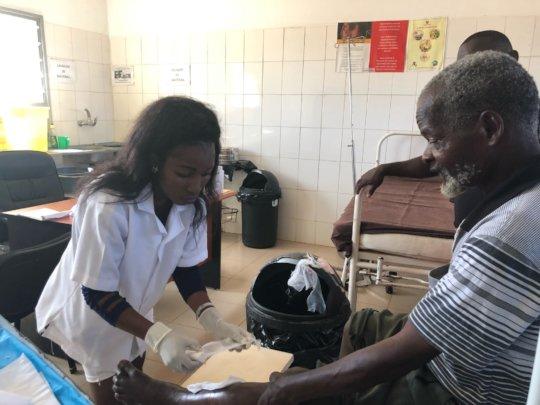 Providing primary healthcare services in Dombay.