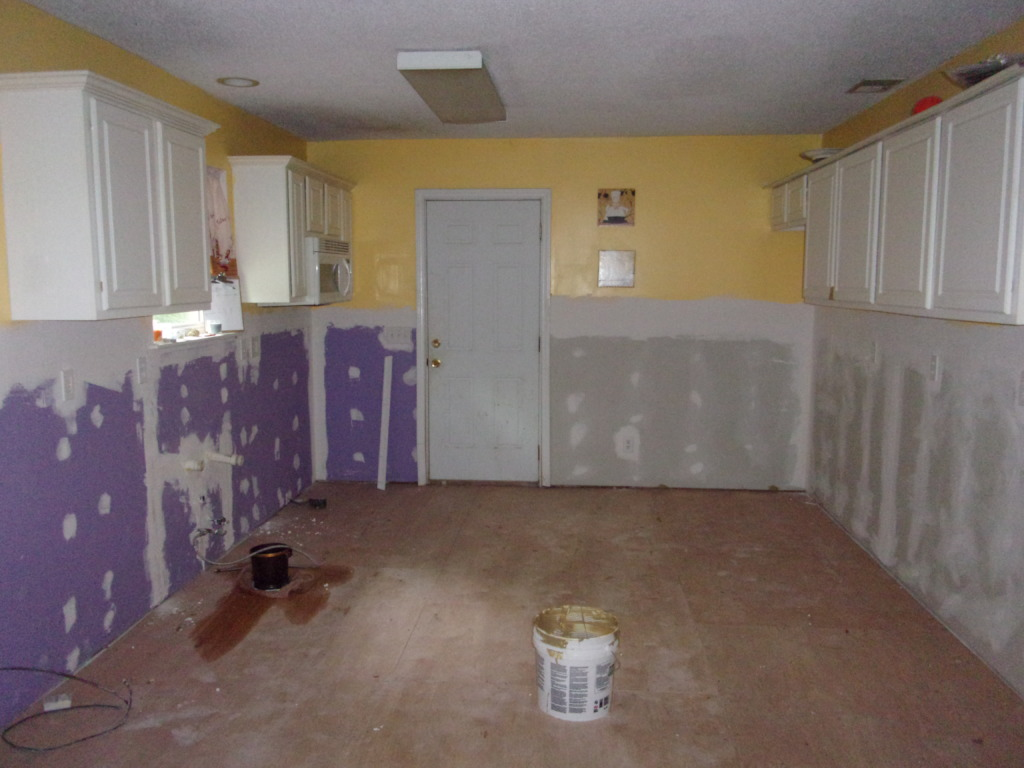 Her kitchen with everything removed