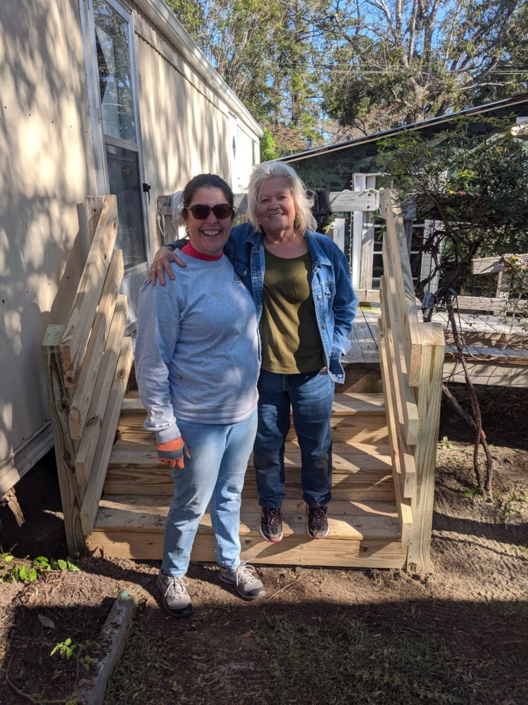 After Ms. Barbara's new porch with volunteer