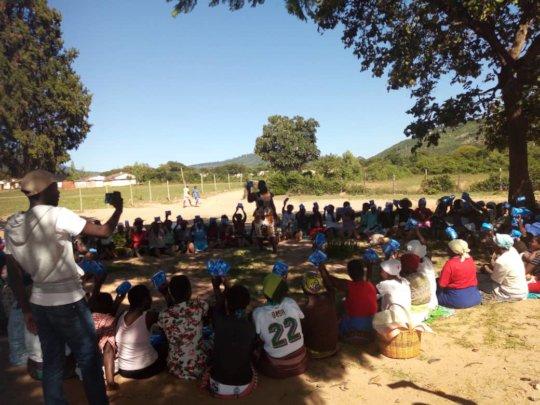 ASAP Officer teaching on menstrual hygiene