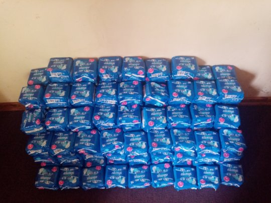 Some of the pads delivered to ASAP Offices