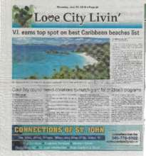 Virgin Islands Daily News Article on our Grant (PDF)