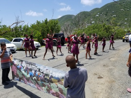 Dynamic Dancers in Coral Bay Labor Day Parade 2019