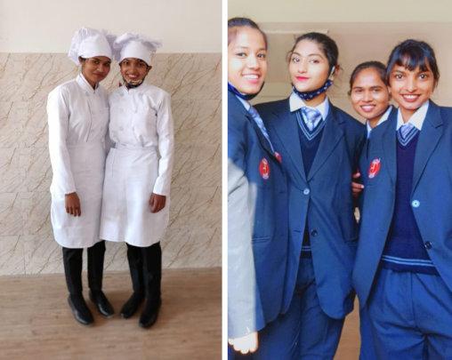 Kurena (on right) with her M: U roommate Chandani.