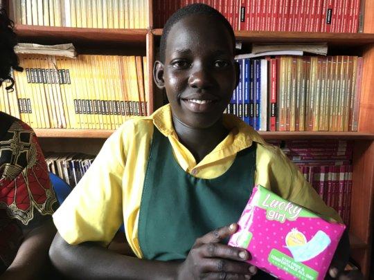 Rebeca at School Receiving pads