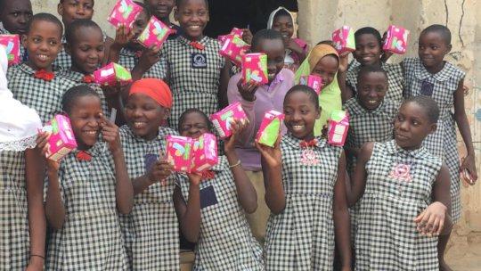 Schools sanitary pads distribution