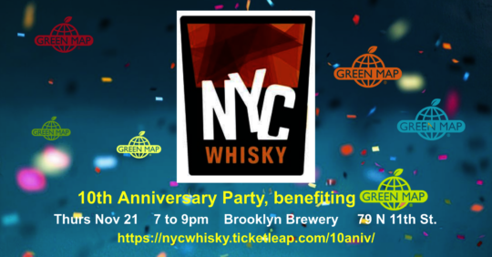 Nov 21! Join NYC Whisky's 10th celebration benefit