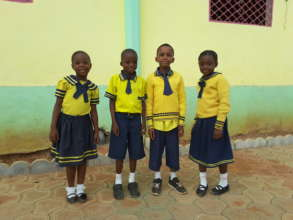 Cameroon students at school