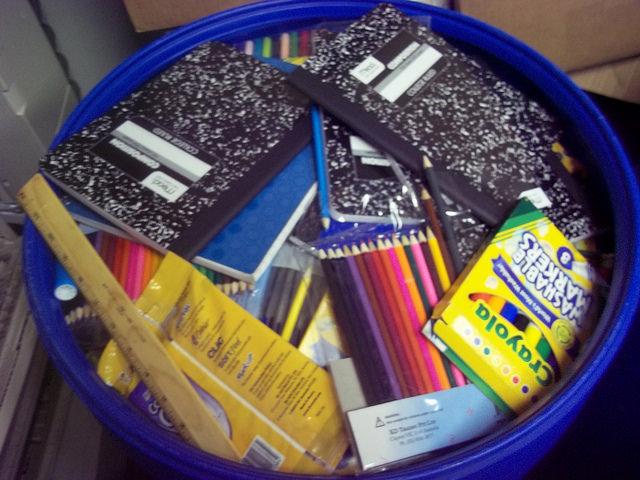 School supplies received