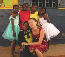 Volunteer and kids