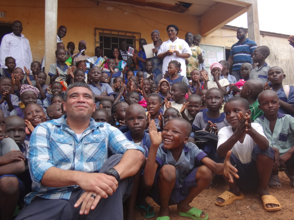 The children were thankful for the school supplies