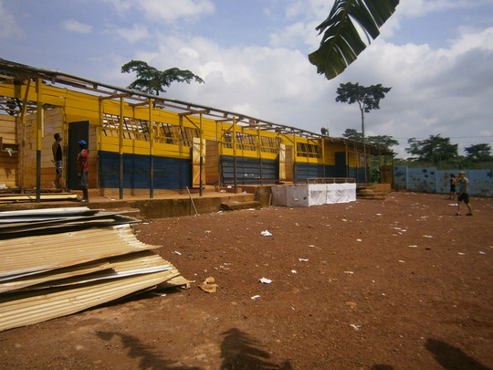 Taking down the old classrooms