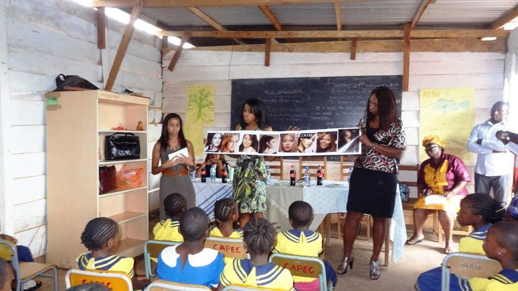 Visit by Peace Corps - training on self esteem
