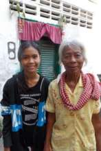 Rantha A 14  and her grandmother, nearing age 80