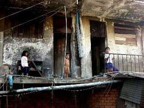 Children at play in Borey Keila Slum