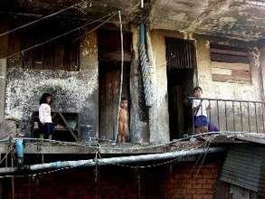Children at play in Borey Keila Slum