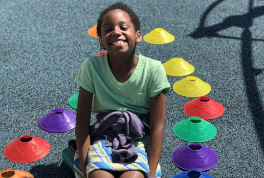 Fun in the sun on our playground!