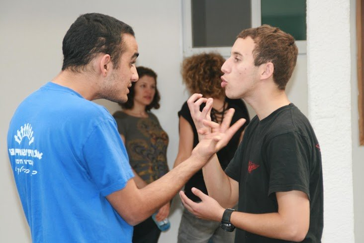 youth engaged in dual-dialogue.