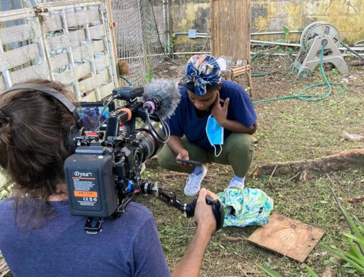Filming with Nitzayra in San Anton
