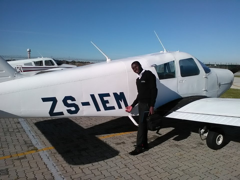 Brian training to become a pilot