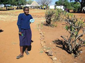 Mukabalengu attending school