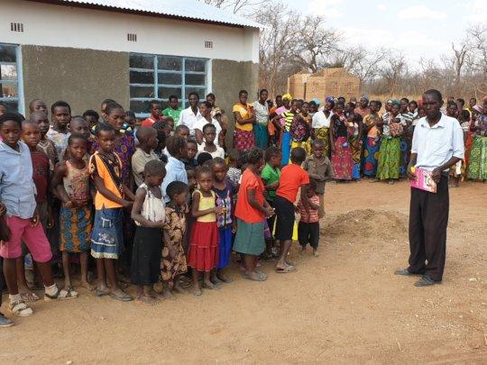 New school for the remote village of Muyunda