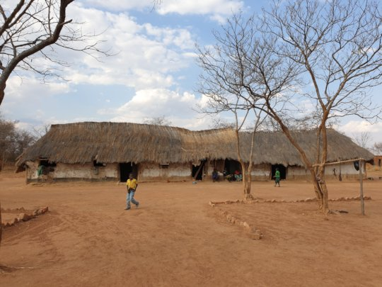 Old community school at Muyunda
