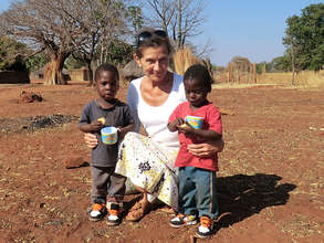 Jane Kaye-Bailey with the Kamwi twins