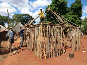 New home for widow & orphans under construction
