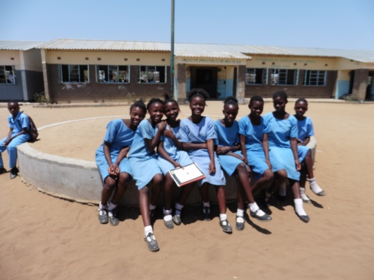 Pupils at River View School, Kazungula