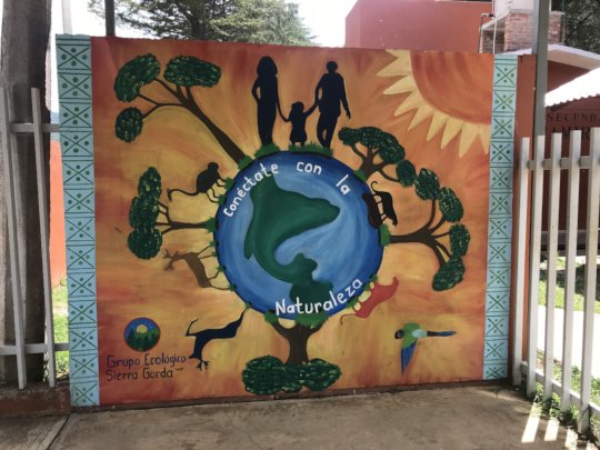 Mural painted at a local school
