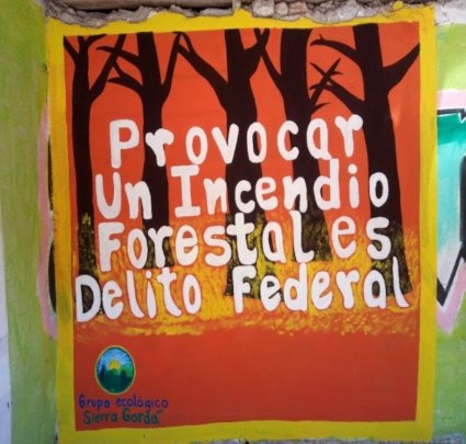 """""""Starting a forest fire is a Federal crime."""""""