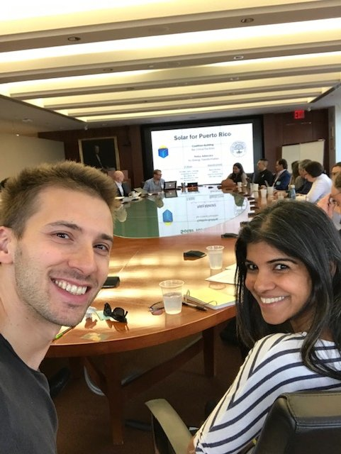 Hunter and Nita at the Rockefeller Foundation