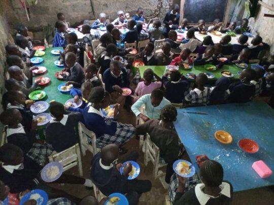 Children at Seed School during Lunchbreak