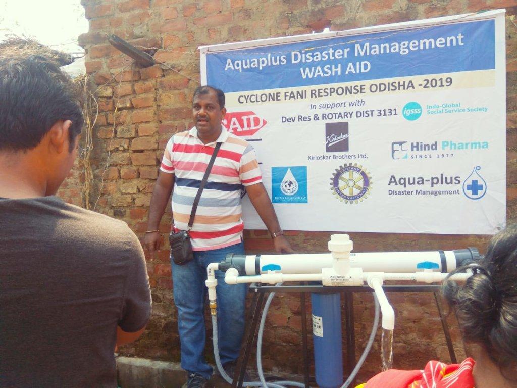 Installation of Community Water filter (AP 700)