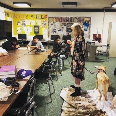 Service Dogs visit Gerber High