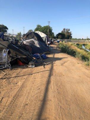 Encampment off Stockton Blvd